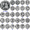 925 European Sterling 26 Letters Silver Charm Bead for Charms Bracelet Necklace