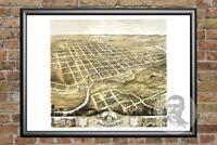 Old Map of Faribault, MN from 1869 - Vintage Minnesota Art, Historic Decor