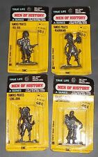4 Vintage Pirates True Life Men of History Metal Miniatures Blackbeard Pirate &c
