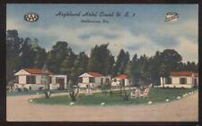 Postcard MELBOURNE FL  Highland Tourist Motel Motor Court Cabins/Cottages 1930's