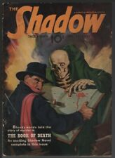 Shadow 1942 January 15. Book of Death cover.    Pulp