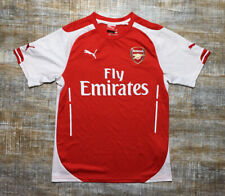 Puma Arsenal FC Premier League Soccer Jersey Red/ White Fly Emirates Mens Medium