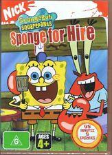 SPONGEBOB SQUAREPANTS DVD - Sponge For Hire NEW & SEALED Free Post Nickelodeon