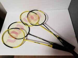 4 Wilson Badminton Rackets Used in good condition