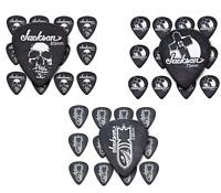Jackson Guitar Picks 12 Pack Black CHOOSE   Sick Skull   Leaning   Cross or Bomb