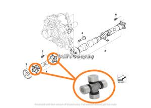 26203401609 For DRIVESHAFT PROP DRIVE SHAFT U-Joint 24X62
