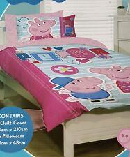 SINGLE BED Peppa Pig George Quilt Doona Duvet Novelty Bedding Christmas Gift Set