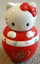 Jelly Belly Hello Kitty Ceramic Sweet Candy Cookie Storage Jar Container Novelty