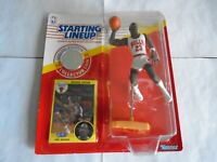 1991 STARTING LINEUP MICHAEL JORDAN STAND COIN & CARD GREAT CONDITION LOOK!