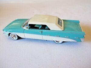 GFCC Toys 1/43 Die-cast 1959 Pontiac Convertible Aqua Green/White New in Box