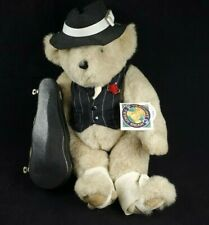 Vintage 1993 Vermont Teddy Bear Jazz Musician Plush with Guitar Case