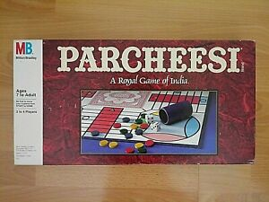 Parchisi Board Game - A Royal Game Of India - 1989 Milton Bradley