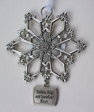 bbd Holiday Hugs and Kisses Christmas SPARKLE SNOWFLAKE ORNAMENT car charm GANZ