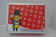 Planters Peanuts Holiday EMPTY Collectible Tin Box Container Mr. Peanut