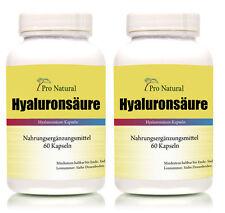 2 x Pro Natural Hyaluronsäure - 120 Kapseln Hyaluron Haut Bindegewebe Gelenke