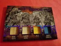 BABE RUTH BAT Pele Barry Sanders Gordie Howe Game Used JERSEY CARD #d1/5 Leaf Q