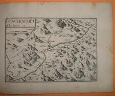 TAS 034 TASSIN 1634 Dauphiné - ANTIQUE PLAN GOUVERNEMENT D'EMBRUN