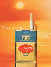 "Publicité Advertising 1971  Cigarettes CRAVEN  ""A""  EXPORT"