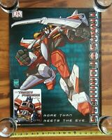 Transformers Ultimate Guide DK Promo Poster Optimus Prime Starscream 2004