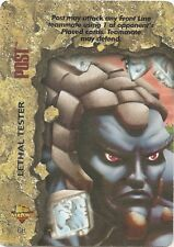 OVERPOWER Post Lethal Tester - Promo - Very Rare - Marvel