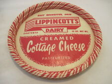 OLD VINTAGE RARE WAX LIPPINCOTTS DAIRY CREAMED COTTAGE CHEESE LID CUP HOLDER