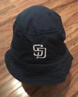 Blue San Diego Padres Fantastics Star 94.1 Fishing Hat Crusher Bucket Boonie Cap