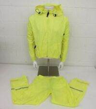 Performance Bicycle Neon Yellow 2-Piece Rain Suit Size Small Fast Shipping LOOK