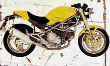 Ducati M900 Monster 1996 Aged Vintage SIGN A3 LARGE Retro