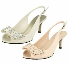 Anne Michelle Slingback Patternless Synthetic Heels for Women
