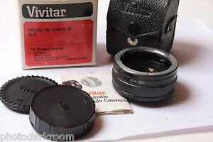 Vivitar Auto 2x Auto Tele-Converter Model 2X-21 For Olympus OM Clean - USED D40
