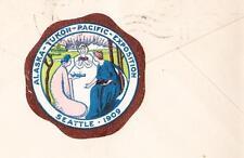 Seattle World's Fair Cancel 1909 & Tied Alaska Yukon Pacific Expo Cinderella z63