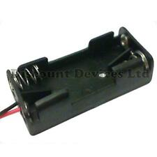 AAA x 2 Battery Holder Black With 12cm Leads