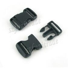 10X38mm Plastic Side Quick Release Buckle Clip Cord Strap Backpack Bag Schoolbag