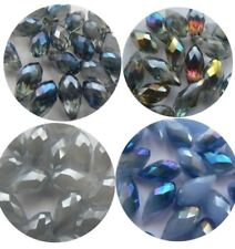 Glass Drop Faceted Jewellery Making Craft Beads