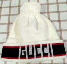 NEW Unisex GG1 Beanie Cap Cotton Adult Hat White