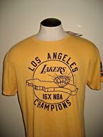 Adidas Originals Mens NBA LA Lakers 16 X Champs SS Tee Shirt Gold Purple NWT