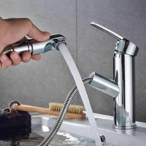 Spültisch  2 Funktion Wasserhahn mit ausziehbar Brause Küchenarmatur Mischbatter