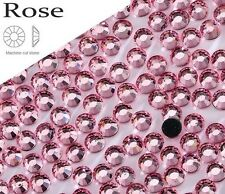 4mm Excellent Quality Hot Fix/Iron On Rose Pink Flatback Round HOTFIX SS16