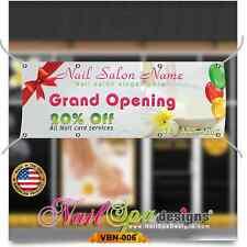 (3ft x 6ft) Custom Nail Salon Vinyl Banner -Grand Opening Custom Name || VBN-006