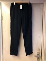 Warehouse pinstripe trousers navy Ladies Women's Smart UK Size 8 BNWT RRP £40