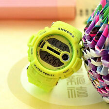 Fashion Candy Color Retro Jelly Unisex  Womans LED Digital Wrist Watch Green