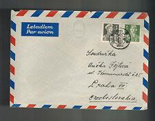 1958 China Airmail Cover to Prague Czechoslovakia