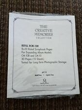 The Creative Memories Collection 8 x 10 Refill RCM-10R 30 Pages/15 Sheets NIP