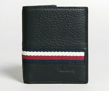 Mulberry Mens Bifold Slim Card Wallet Black Grain Leather With Stripes Authentic