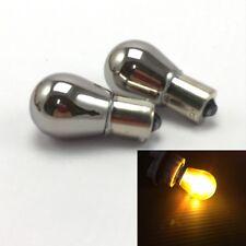 Amber Chrome Bulb 7507 PY21W REAR SIGNAL Light BAU15S 150 degree For BMW MINI