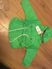 Enfants Veste Fille Polka Dot Imprimé Outerwear GIRL Trench coat vert 18-24 M