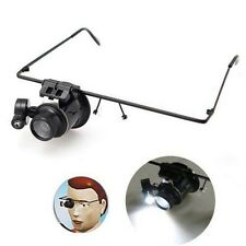 20X Watch Magnifier Eye Glass Single Loupe Lens Jeweler Watch Repair LED Light