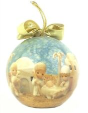 1991 Enesco Precious Moments NATIVITY SCENE Christmas Tree Ball Ornament