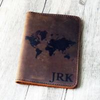 Personalised Genuine Leather Passport Cover ; Custom Printed Passport Holder b