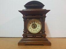 ANTIQUE JUNGHANS...GERMAN TABLE CLOCK CASTLE...